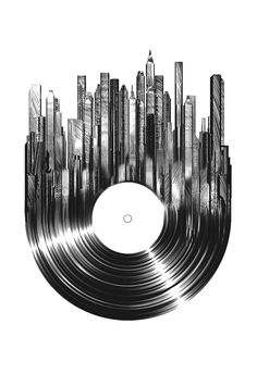 Nice vinyl record graphic
