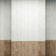 empty room with wooden walls