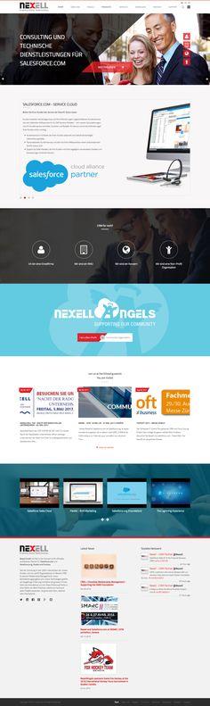 Einem langjährigen kompetenten Partner einen modernen Webauftritt zu gestalten ist ein wahre Freude: Nexell GmbH, der Salesforce.com Spezialist  #webagentur #webdesign #bern Web Design, Bern, Marketing, Partner, Glee, Design Web, Website Designs, Site Design