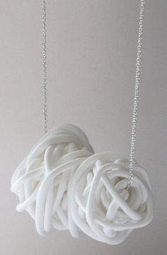 nest necklace (made of white clay) by mariana and hazel <3