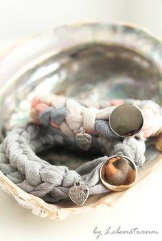 LebensTraum: Made with Love- Jersey Bracelet