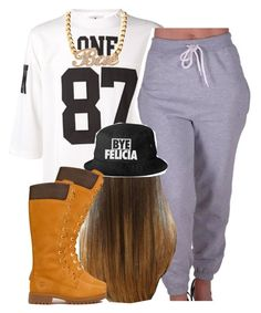 """""""."""" by trillest-queen ❤ liked on Polyvore featuring UNIF and Timberland"""