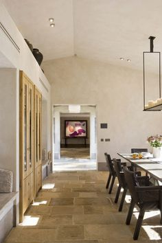 a stunning summer home on formentera Stone Tile Flooring, Floors And More, Brick And Stone, Interior Decorating, Interior Design, Home Trends, Floor Design, Architecture Details, New Homes