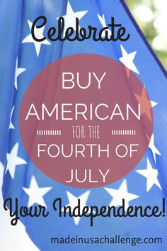 Buy Made in USA for 4th of Juy 93% of fireworks displayed in America on Independence Day are imported from China...$218.2 million in sales. Americans spend appr. $3.8 million annually on American flags made in China....Only 2% of clothing sold in the USA is American made...