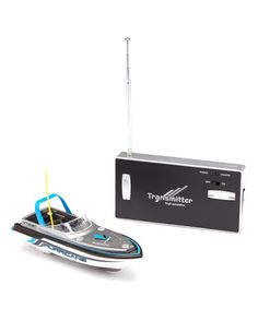 This Blue, Red, Yellow or Green Mini Remote Control Boat is perfect! #zulilyfinds $17.99