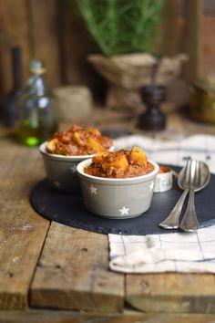 Bauerntopf mit Paprika und Kartoffeln - Stew with minced meat, red peppers and potatoes | Das Knusperstübchen