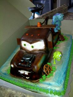 Mater cake with mike and sully :)