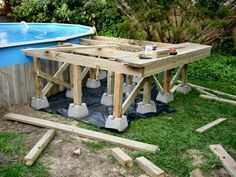 Free Do It Yourself Deck Building Plans   Todayu0026 Free Plans. Above Ground Pool  Deck Framing