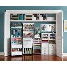 Craft Closet Organization.  LOVE.