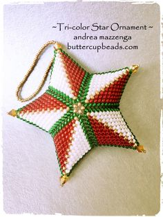Tri Color Star -- Buttercup Beads
