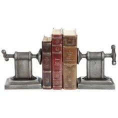 Crankshaft Bookends Set Of 2  by Home Decorators Collection $44