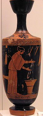 The Ancient Greek pottery went to domestic use or commercial use.