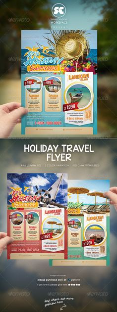 Holiday Travel Flyer / Magazine Ads - Holidays Events