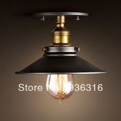 Edison Chandelier American country bedside balcony hallway ceiling with + ST64 Edison lamp bulb +Copper lamp Base+ Free shipping