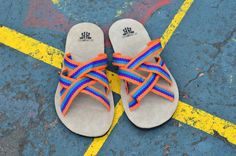 """WAYUU SANDALS US8/EUR41/UK7.5. Typical Wayuu Indian footwear called """"Wayrenas."""" www.colombiart.co"""