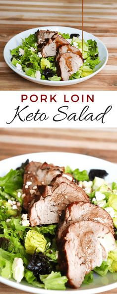 This keto-friendly pork loin salad is so yummy and perfect for quick lunches. Each serving is 5 net carbs and 34 grams of fat.