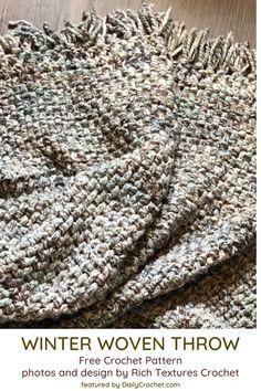 Mindless Super Bulky Yarn Throw Pattern - Knit And Crochet Daily - Anna - Mindle. Mindless Super Bulky Yarn Throw Pattern – Knit And Crochet Daily – Anna – Mindless Super Bulk Crochet Throw Pattern, Afghan Crochet Patterns, Crochet Yarn, Free Crochet, Knitting Patterns, Dishcloth Crochet, Crochet Mandala, Crochet Stitches, Knitted Throw Patterns