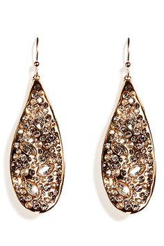 Oh so totally in love with these!!   Crystal encrusted teardrop earrings, Alexis Bittar, Stylebop.com, $270