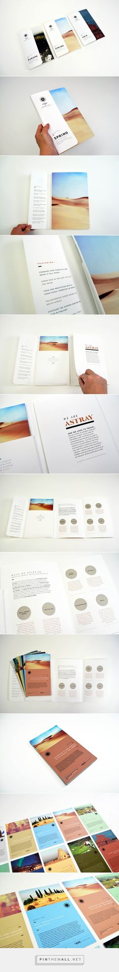 Astray Travel Co : Brochure Design on Behance - created via…