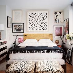 practical, stylish, and timeless are the keywords in your design mantra, #black and #white #bedroom