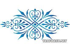 Spets monogram 54 • schablon till färgning • handla online på Internet