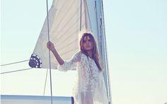 Zimmermann Resort Swim 15: Essence Silk Veil Gather Dress, Porcelain Quilted Tri Bikini