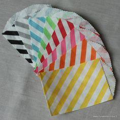 Mini sachets rayés - 9 couleurs - par 4 by My Sweet Boutique