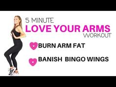 Get Rid of Bingo Wings- tone and sculpt your arms in without any weights and feel it working - YouTube
