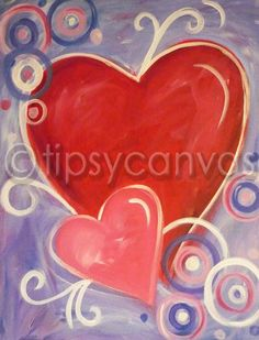 Valentine canvas art. Want to make one canvas for every holiday.