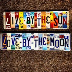 Bohemian Decor Live By the Sun Love by the Moon Sign Home Decor Hippie Decor boho License Plate Art Dorm Room Gift for Girl Modern Bohemian, Bohemian Decor, Gypsy Decor, Hippie Home Decor, Bohemian Interior, Bohemian Living, Home Design, License Plate Art, Hippy Room