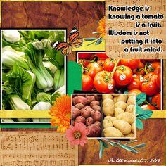 Veggie Melody by DogArtist. Kit used: Flower Symphony http://scrapbird.com/designers-c-73/a-c-c-73_514/aadesigns-c-73_514_395/flower-symphony-kit-by-aadesigns-p-15176.html