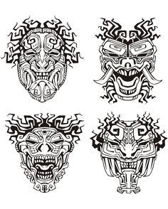Masques inspiration inca maya aztequeA partir de la galerie : Mayas Azteques Et Incas