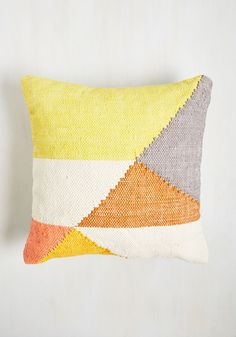 Bringin' Down the Couch Pillow. A night in with savory popcorn, a couple of fun flicks, and this geometric throw pillow? #multi #modcloth