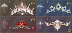Number 2 :: (OPEN) Diadems adopts 15 by Rittik-Designs Anime Weapons, Fantasy Weapons, Fantasy Jewelry, Fantasy Art, Crown Drawing, Tiara Drawing, Drawing Anime Clothes, Little Poney, Magical Jewelry