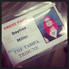 Nine months later, I finally have my press pass! Woot! #partylikeajournalist