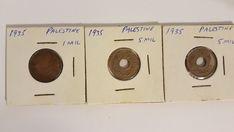 3 Palestine coins 1935