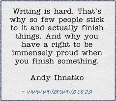 What to do when writing is terrible?