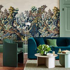Verdure Tapestry | Cole & Son Tapestry Wallpaper, Scenic Wallpaper, Modern Wallpaper, Home Wallpaper, Designer Wallpaper, Cole And Son Wallpaper, Stunning Wallpapers, Interior Decorating, Interior Design