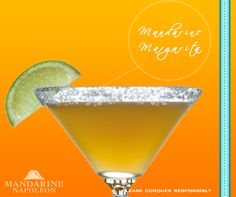 The Mandarine Margarita is the Mandarine Napoléon version of a classic cocktail. Delicious!