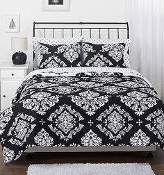 Black and White Delight: Bedding