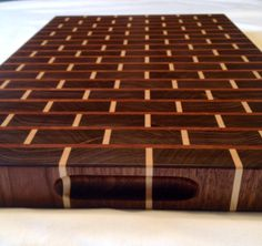 Walnut Cherry and Maple End Grain Cutting Board Brick Style 12x18 $135
