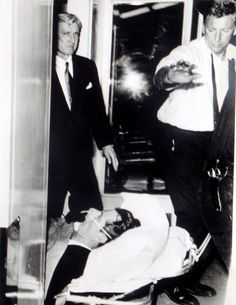 Robert F. Kennedy's Last Photo....Kennedy as he is being transported to hospital