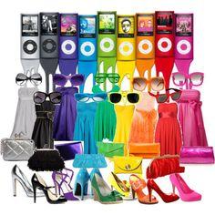 #Rainbow iPods, sunglasses dresses, purses, & shoes.  Colors | | Jen on the EdgeJen on the Edge
