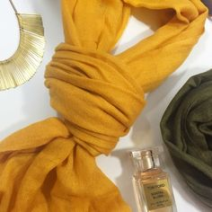 Lightweight Gold Scarf Nylon and wool blend in a yellow-gold color. NWT. 05291606 Lou & Grey Accessories Scarves & Wraps