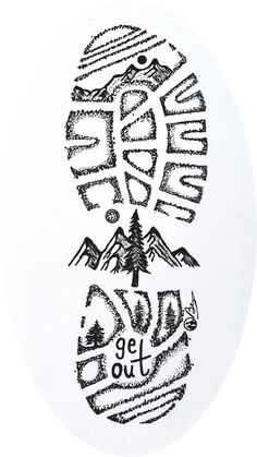 "tread Lightly"" Hand-drawn By Dark Mountain Arts Mini Art Print by Darkmountainarts - Without Stand - x 4 Cool Art Drawings, Doodle Drawings, Art Drawings Sketches, Doodle Art, Easy Drawings, Pencil Drawings, Ink Illustrations, Tatoo Naruto, Dark Mountains"