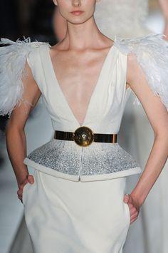 Metallic Belt Trend forFall Winter 2012.  Christophe JosseFall Winter 2012.    #fashion #trends