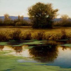 """Side Channel - Study,"" by Renato Muccillo 8 x 8 - oil on mylar"