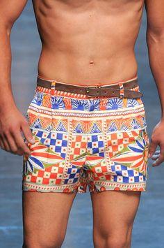 Dolce & Gabbana Cartwheel Print Poplin Shorts