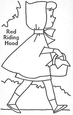 Little Red Riding Hood Little Red Ridding Hood, Red Riding Hood, Fairy Tale Crafts, Traditional Tales, Preschool Coloring Pages, Toddler School, Fairytale Art, Nursery Rhymes, Preschool Crafts