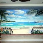 Clear Tropical Mural Design Ideas